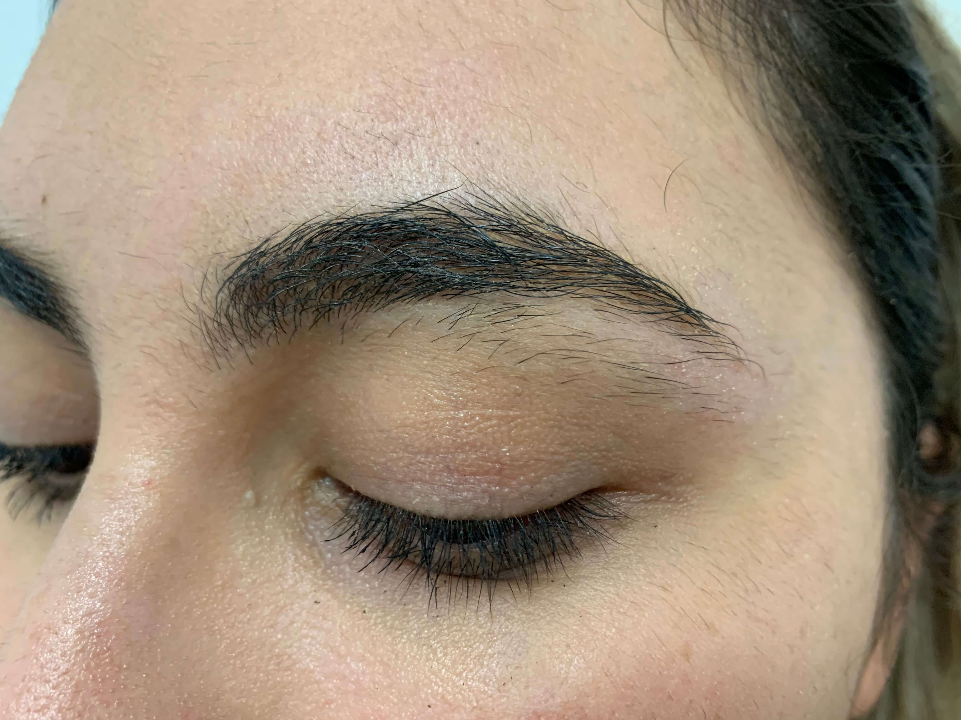 Brow Waxing Before