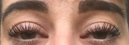 Lash Lift and Tint After:  With Mascara
