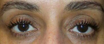 Eye lash perm and tint After