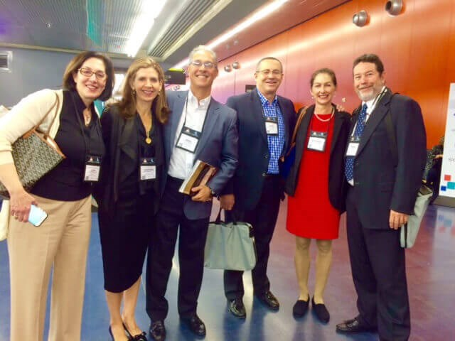 Francisco Canales, MD and Heather Furnas, MD with plastic surgery colleagues