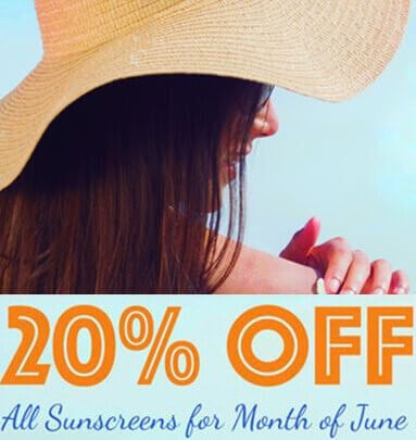 20% Off All Sunscreens in June
