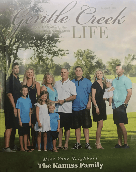Debbie and Brandon family magazine